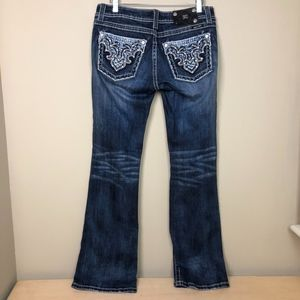 WOMENS MISS ME BOOT CUT JEANS 30x32 Double Stitch